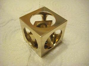 Image Is Loading Bronze Cube In A Cube From Engineer Bruns