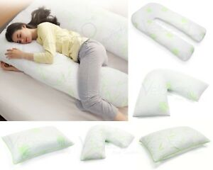 details about memory foam bamboo aloe vera pillow v pillows large pregnancy jumbo body pillow