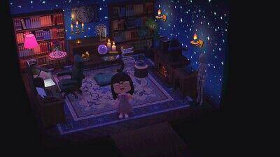 Animal Crossing New Horizons Black/ Dark / Magic library ... on New Horizons Living Room  id=77128