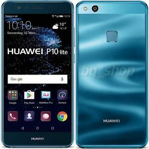 "Huawei P10 lite Blue Dual SIM 32GB 5.2"" Octa Core 4GB RAM 12MP Phone By USA SHIP"