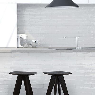 gloss white spanish handmade subway tiles 300x75mm premium grade ebay