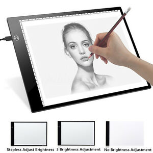 A4 LED Artist Tattoo Art Stencil Board Light Box Tracing Drawing Board Pad Table
