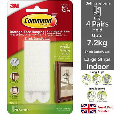 3m command picture frame hanging adhesive stick on strips damage free ebay