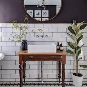 details about new york flat white subway metro gloss bathroom kitchen wall tiles 10 x 20cm