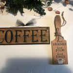 Coffee Paddle Good Friends Food Times Kitchen Cafe Wall Decor Wood Sign 2 Pc B For Sale Online