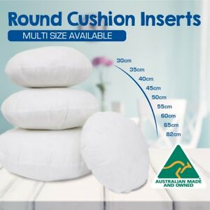 details about round cushion insert aust made polyester premium lofty fibre multi sizes