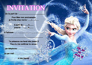 details about 5 or 12 birthday invitation cards snow queen ref 07 show original title
