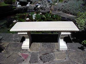 details about stone garden bench rustic bench garden chair furniture patio outdoor bench