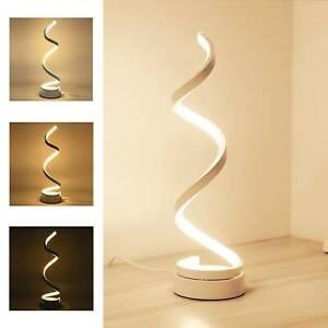 Led Table Lamp Spiral Desk Lamp Warm White Modern Reading Light Bedside Room Uk Ebay