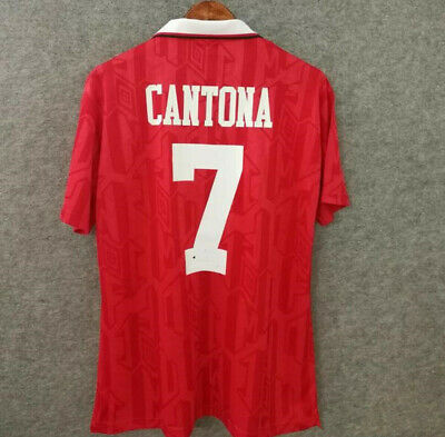 Club on 1 december 1992 in a friendly match against benfica in lisbon to mark eusébio's 50th birthday, wearing the number 10 shirt. CANTONA 7 Football Shirt 1992 94 MAN UTD Retro Jersey ...