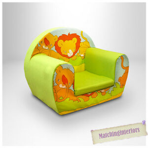 Lion Lime Animal Childrens Kids Comfy Foam Chair Toddlers