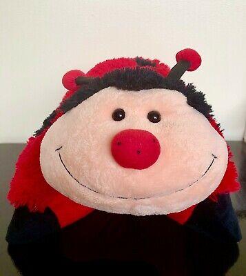 pillow pets ms ladybug plush red black lady bug pillow pet 18 soft stuffed toy ebay