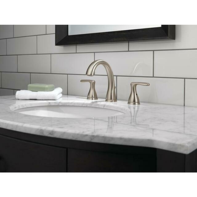 peerless bathroom faucet p299685lf bn eco w brushed nickel high arc 3hole a1