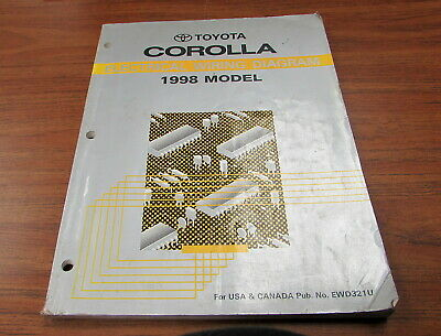 1998 toyota corolla electrical wiring diagram service manual  ebay