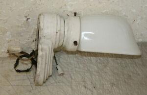 Antique Porcelain Sconce Light Fixture Wall Vtg Art Deco ... on Wall Sconce Parts id=42902