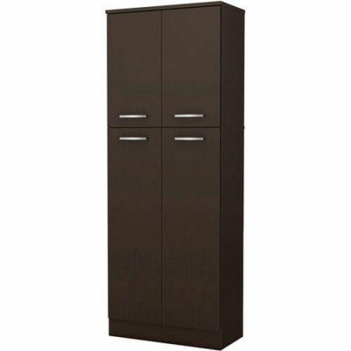 Kitchen Storage Pantry Cabinet Cupboard Food Organizer Furniture Shelf Tall Wood 2