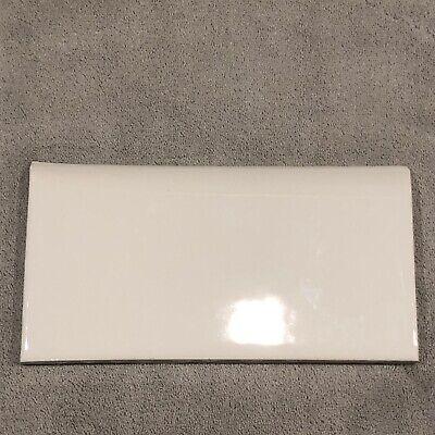 vintage ceramic bullnose subway tile 3 x 6 glossy white ebay