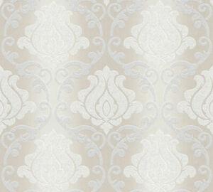 Una delle carte da parati più belle per il rivestimento murario della casa è sicuramente quella damascata bianca e nera. Carta Da Parati Damascata Effetto Rilievo Damask Glitter Elegant 2 Ebay