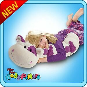details about authentic pillow pets squiggly cow white and purple large 18 plush toy gift