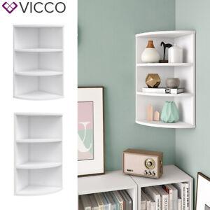 details sur vicco etagere d angle ecki pour livres blanc 3 casiers etagere suspendue