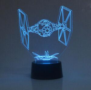 Star Wars Tie Fighter 3D Night Light USBBattery Powered 7