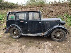 1934 Wolseley 9 pre war car barn find restoration project all original with v5c