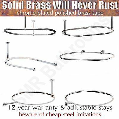 traditional round oval shower curtain rails with optional wallstays ebay