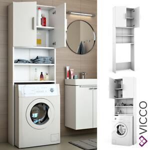 details sur vicco meuble pour machine a laver meuble de salle de bain blanc 190x64 cm