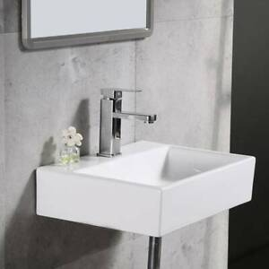 details about modern square ceramic small compact basin wall hung bathroom sinks 39 5 29 5 12