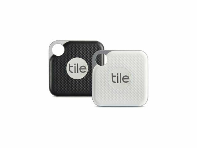 tile pro with replaceable battery 1 black and 1 white