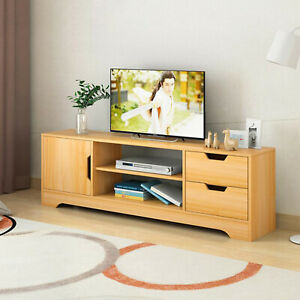 details about tv stand cabinet table wooden tv cabinet stand unit table with shelves cupboard