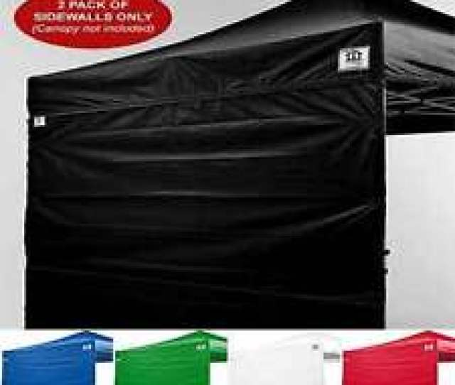 X Ez Pop Up Canopy Tent Canopy Sidewalls Kit Two Walls Only Straight Leg