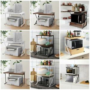 details about 2 tier microwave shelf stand microwave rack printer holder corner kitchen shelf