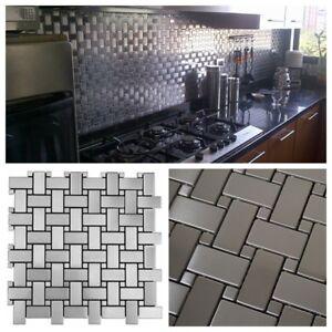 details about basket weave pattern stainless steel metal mosaic tile for kitchen backsplash