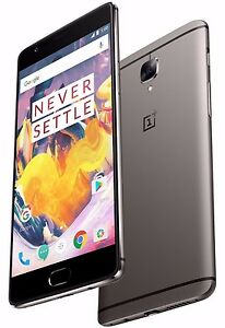 "OnePlus 3T 64GB Gunmetal Grey A3010 (FACTORY UNLOCKED) 5.5"" Full HD , 6GB RAM"