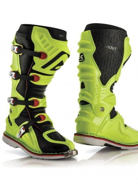 Stivali moto cross enduro Acerbis X-Move 2.0 Nero Giallo Fluo Arancio 0017719