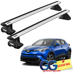 details about thule evo wingbars roof rack bars toyota c hr 2017 onwards