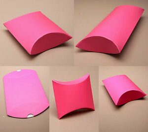 details about pack of 12 hot pink gift pillow box boxes wedding favour wholesale party box