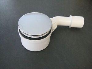 Ablauf Dusche flach H 63 mm Sifon Duschablauf Ø 90mm Abfluß D 90 mm