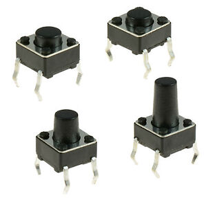 6x6mm Momentary Tactile Mini Miniature Push Button Switch