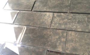 details about 3x6 wide beveled subway antique decorative mirror tile backsplash sold by piece
