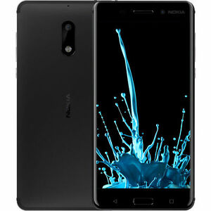 New Nokia 6 - 64GB/4GB RAM - Dual SIM Black Unlocked Android Smartphone 5.5'' US