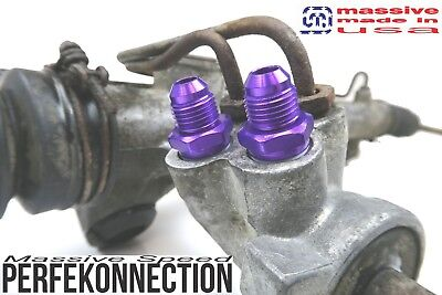 mss steering rack fitting an adapter braided line mustang 2 fox body sn95 74 04 ebay