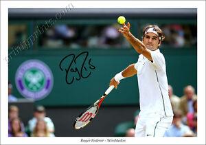 details about roger federer signed print poster photo autograph tennis wimbledon djokovic