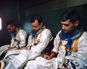 GUS GRISSOM, ED WHITE AND ROGER CHAFFEE APOLLO 1 CREW ...
