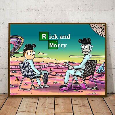rick and morty breaking bad print original custom artwork a4 a3 poster drawing ebay