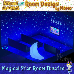 Magical Star Room Theater ⭐ Animal Crossing New Horizons ... on Animal Crossing Room Ideas New Horizons  id=76308