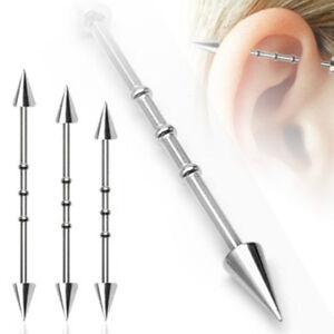 Ohr Inlay Industrial Piercing Spikes 32 - 38 mm NEU eingetroffen !!