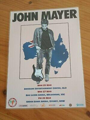 john mayer 2019 australia tour poster laminated promo tour poster new ebay