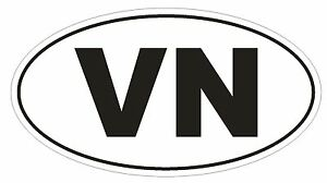 VN Viet Nam Country Code Oval Bumper Sticker or Helmet Sticker D1076 | eBay
